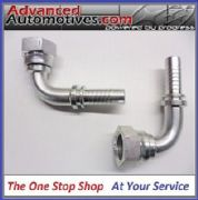 "OIL COOLER HOSE FITTINGS - 2 x 1/2 Inch BSP Female 90deg For 1/2"" Push On Hose"